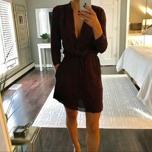 T. Babaton from Aritzia Bennet Silk Pocketed Dress